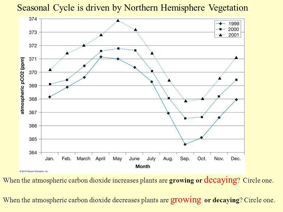 Seasonal Cycle is driven by Northern Hemisphere Vegetation