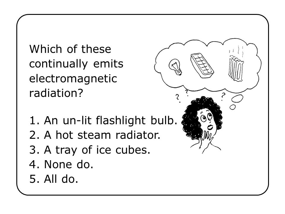 Which of these continually emits electromagnetic radiation