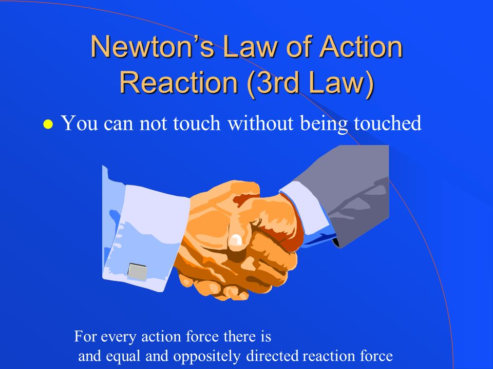Newton's Law of Action Reaction (3rd Law)