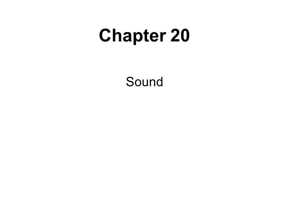 Chapter 20 Sound
