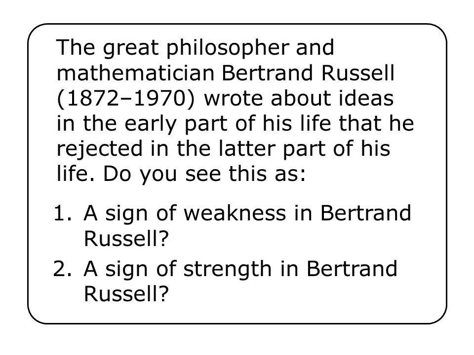 A sign of weakness in Bertrand Russell