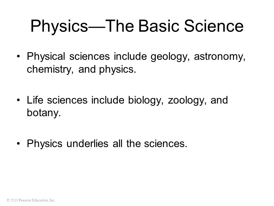 Physics—The Basic Science