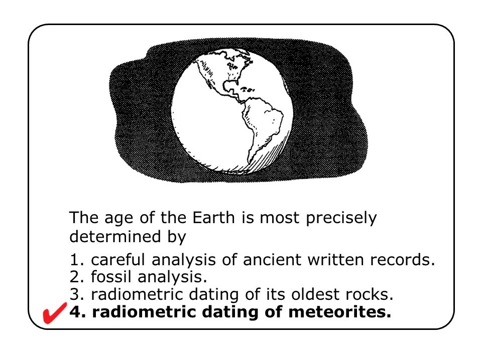 The age of the Earth is most precisely determined by