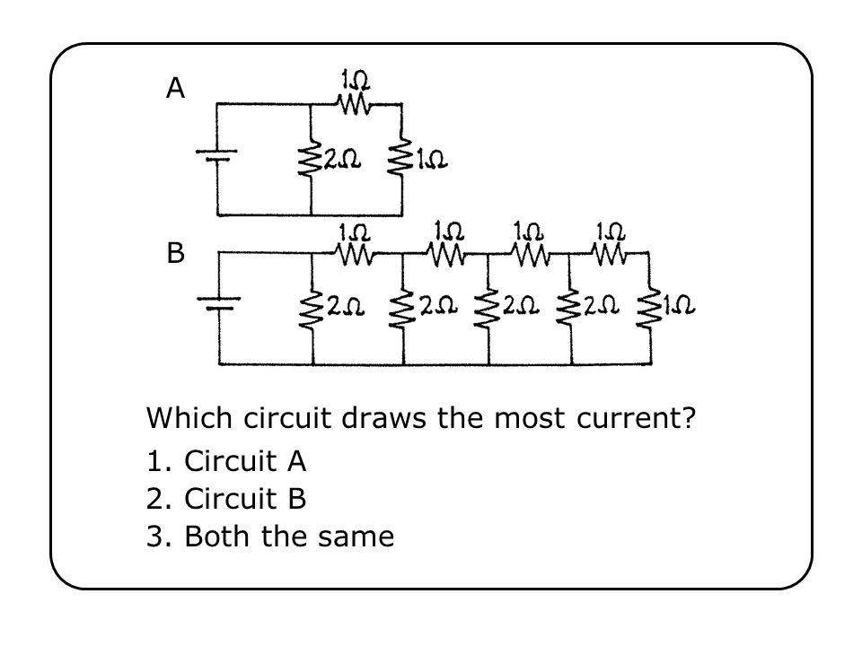 Which circuit draws the most current