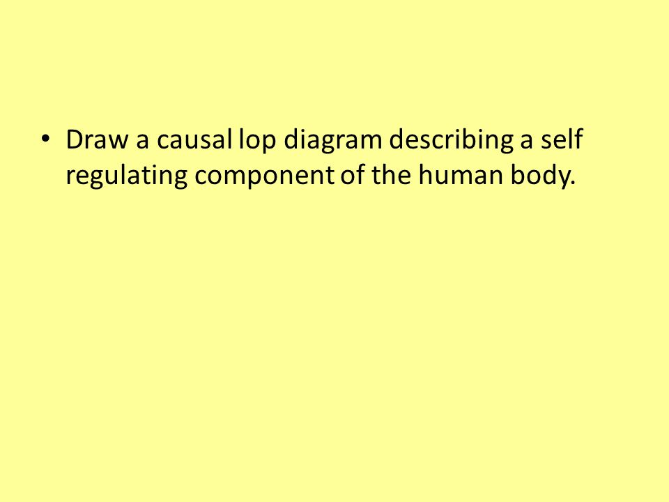 Draw a causal lop diagram describing a self regulating component of the human body.
