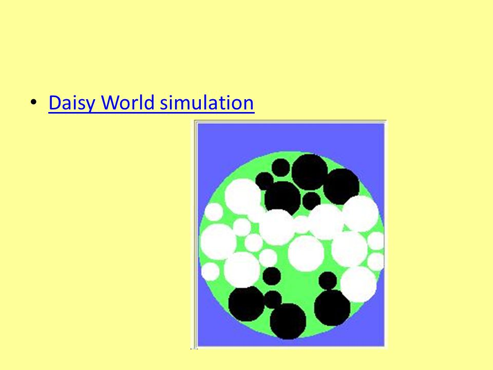 Daisy World simulation