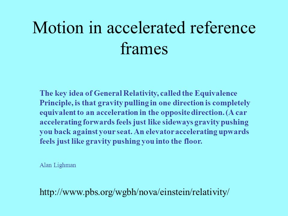 Motion in accelerated reference frames
