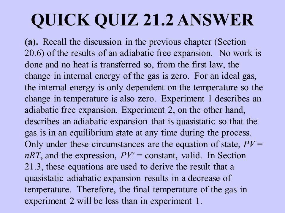 QUICK QUIZ 21.2 ANSWER