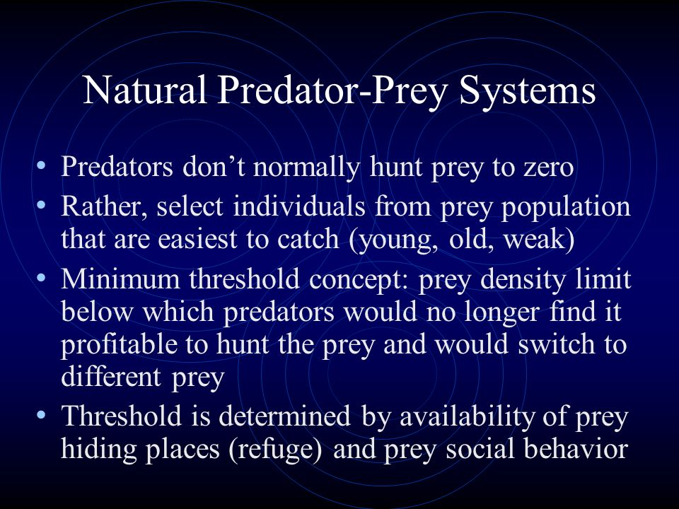 Natural Predator-Prey Systems