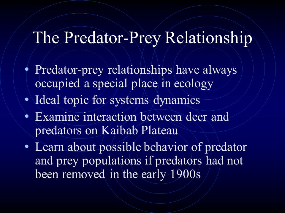 The Predator-Prey Relationship