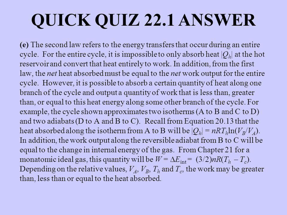 QUICK QUIZ 22.1 ANSWER