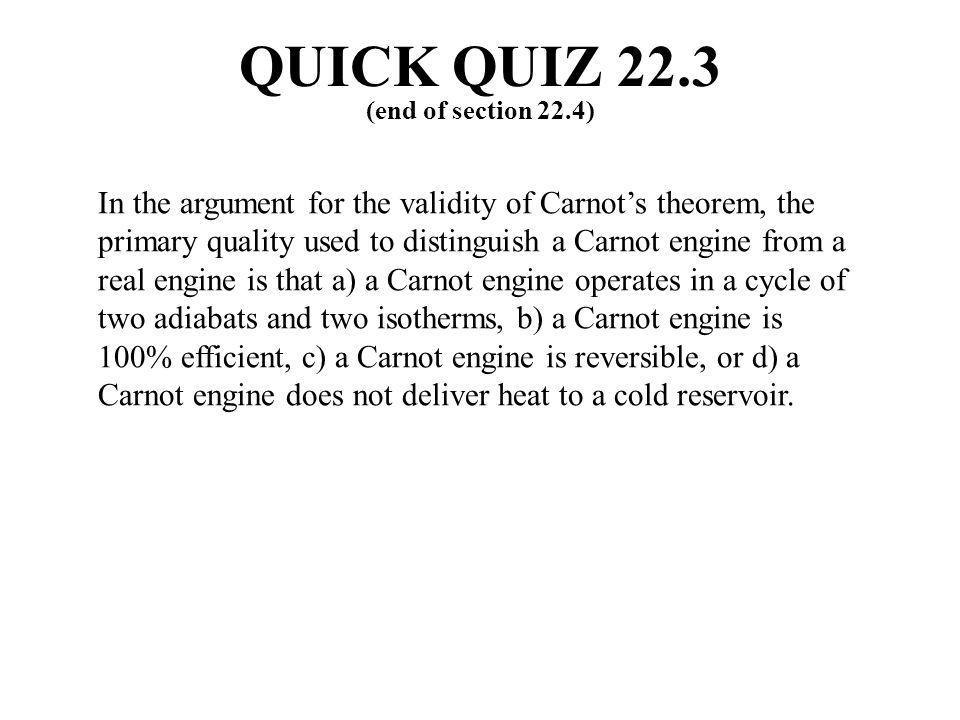 QUICK QUIZ 22.3 (end of section 22.4)