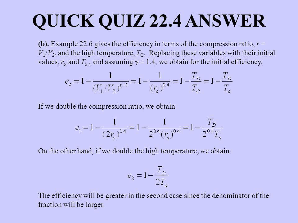 QUICK QUIZ 22.4 ANSWER