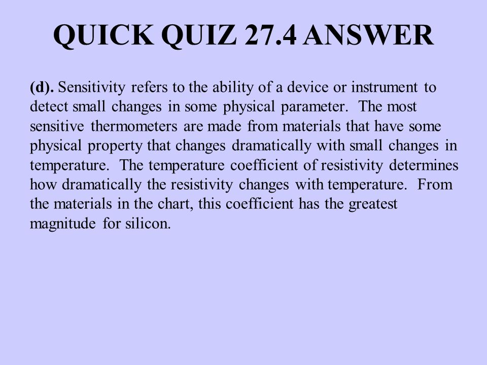 QUICK QUIZ 27.4 ANSWER