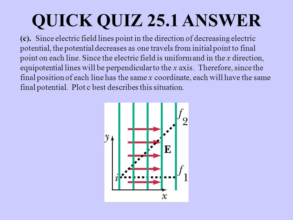 QUICK QUIZ 25.1 ANSWER