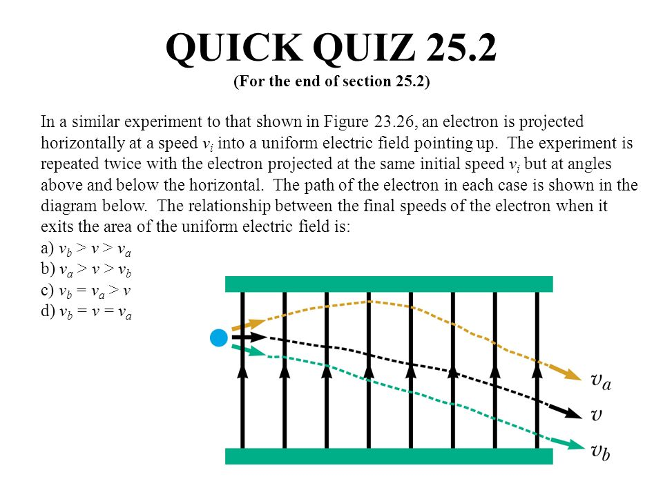 QUICK QUIZ 25.2 (For the end of section 25.2)