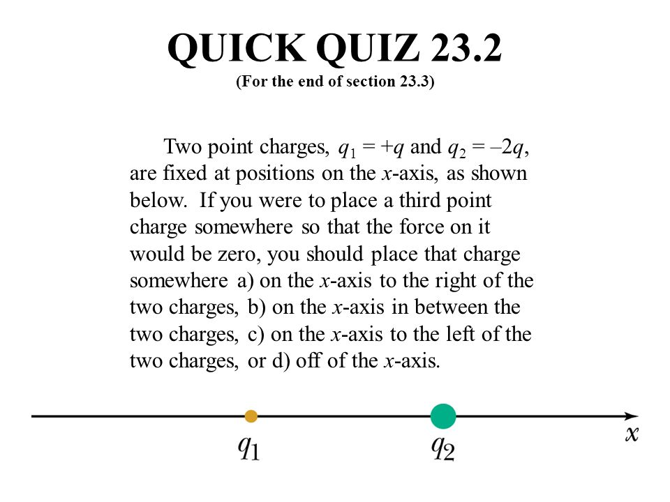 QUICK QUIZ 23.2 (For the end of section 23.3)