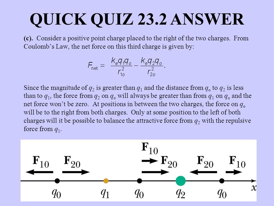 QUICK QUIZ 23.2 ANSWER