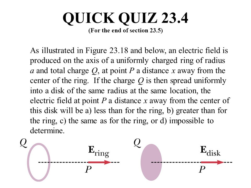 QUICK QUIZ 23.4 (For the end of section 23.5)