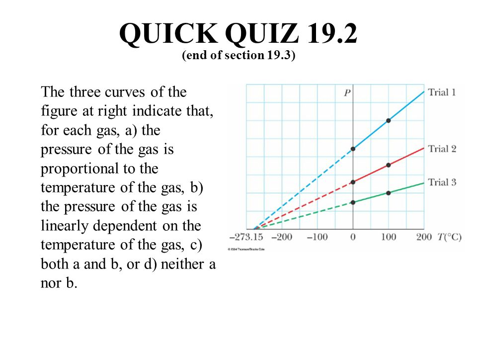 QUICK QUIZ 19.2 (end of section 19.3)