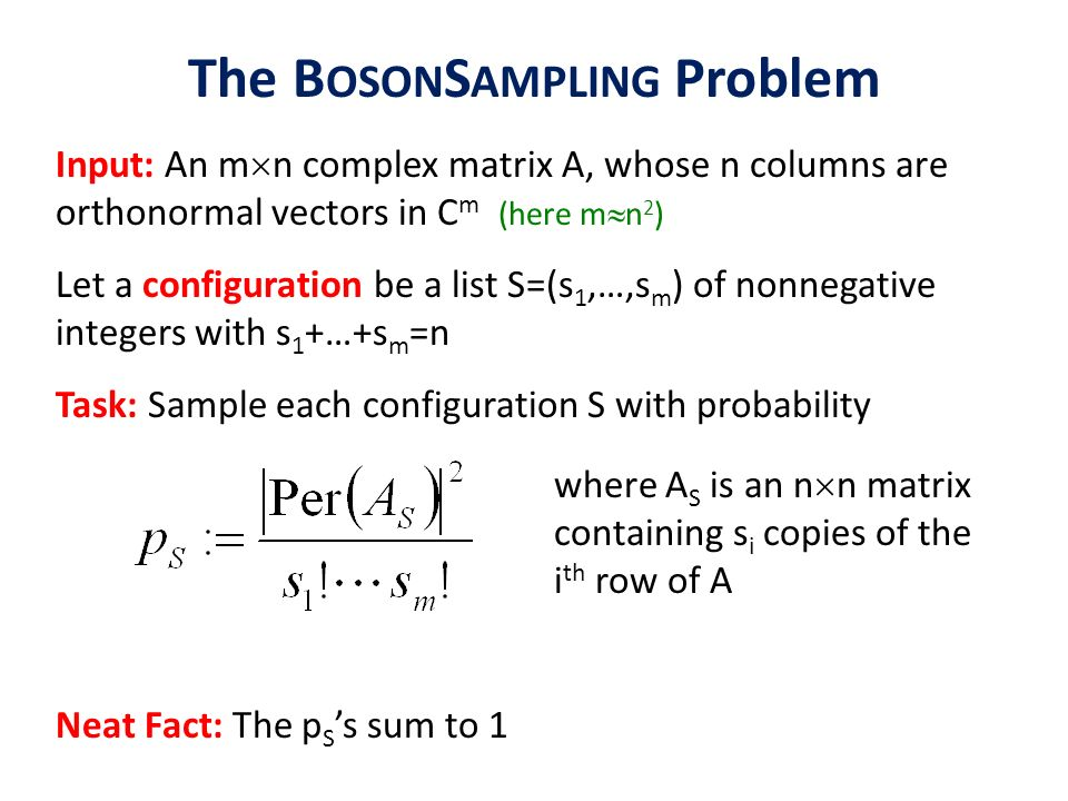 The BosonSampling Problem
