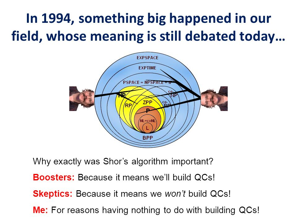 In 1994, something big happened in our field, whose meaning is still debated today…