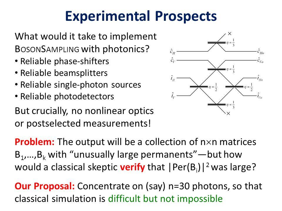 Experimental Prospects