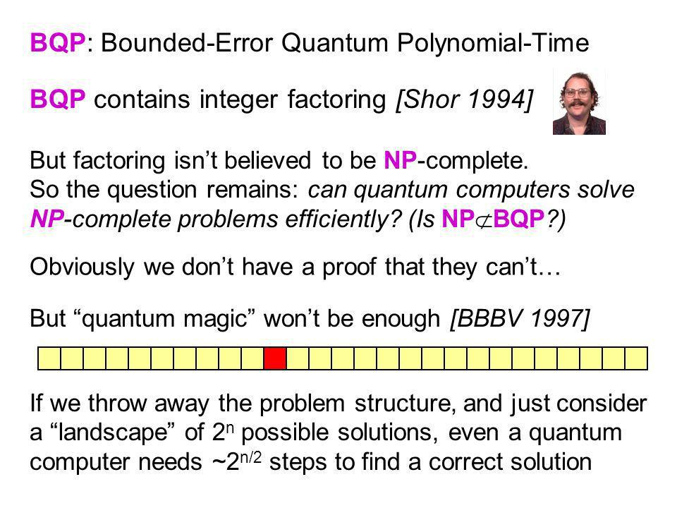 BQP: Bounded-Error Quantum Polynomial-Time