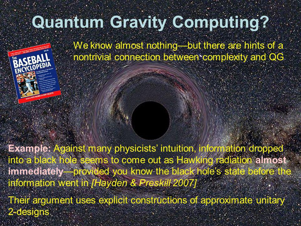 Quantum Gravity Computing