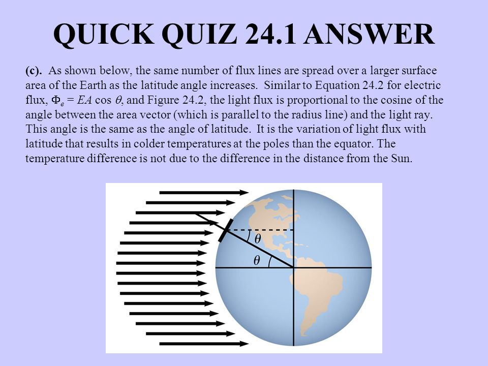 QUICK QUIZ 24.1 ANSWER