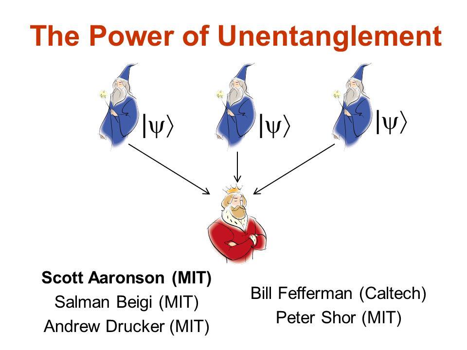 The Power of Unentanglement