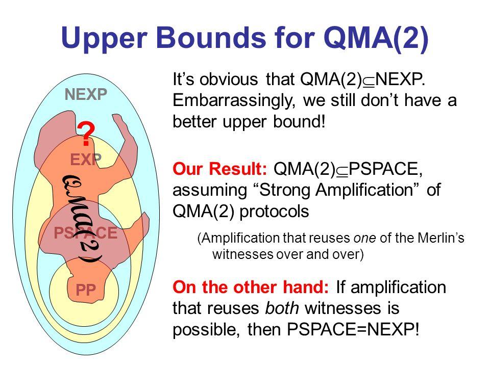 Upper Bounds for QMA(2) QMA(2)