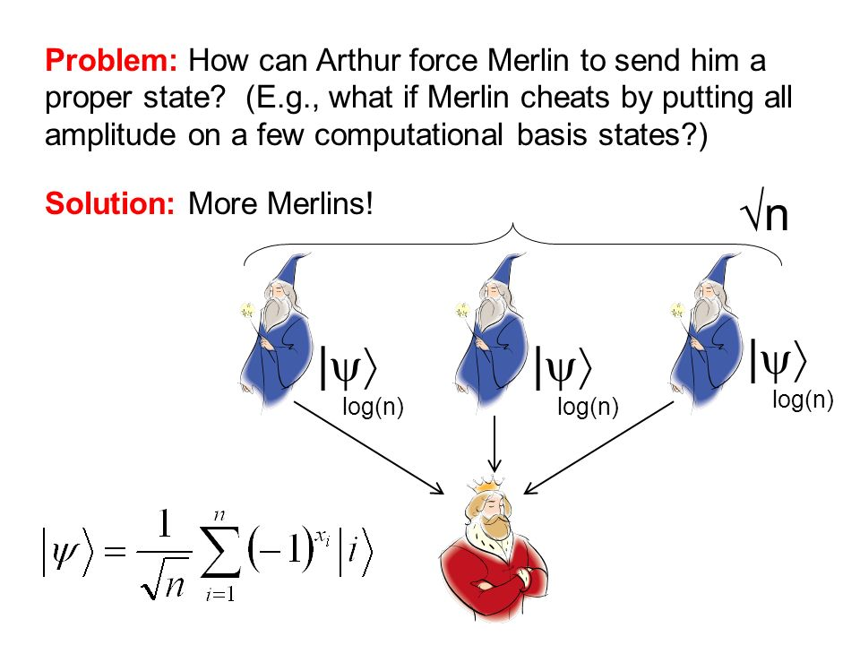 Problem: How can Arthur force Merlin to send him a proper state. (E. g
