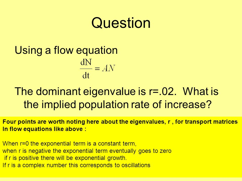 Question Using a flow equation