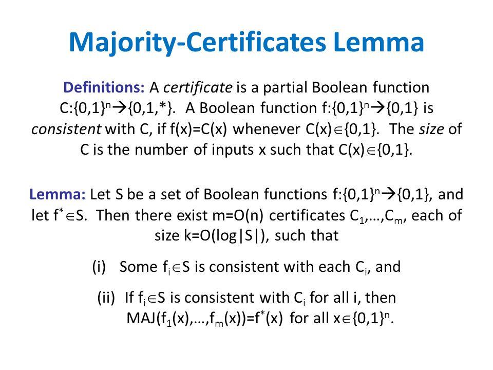 Majority-Certificates Lemma