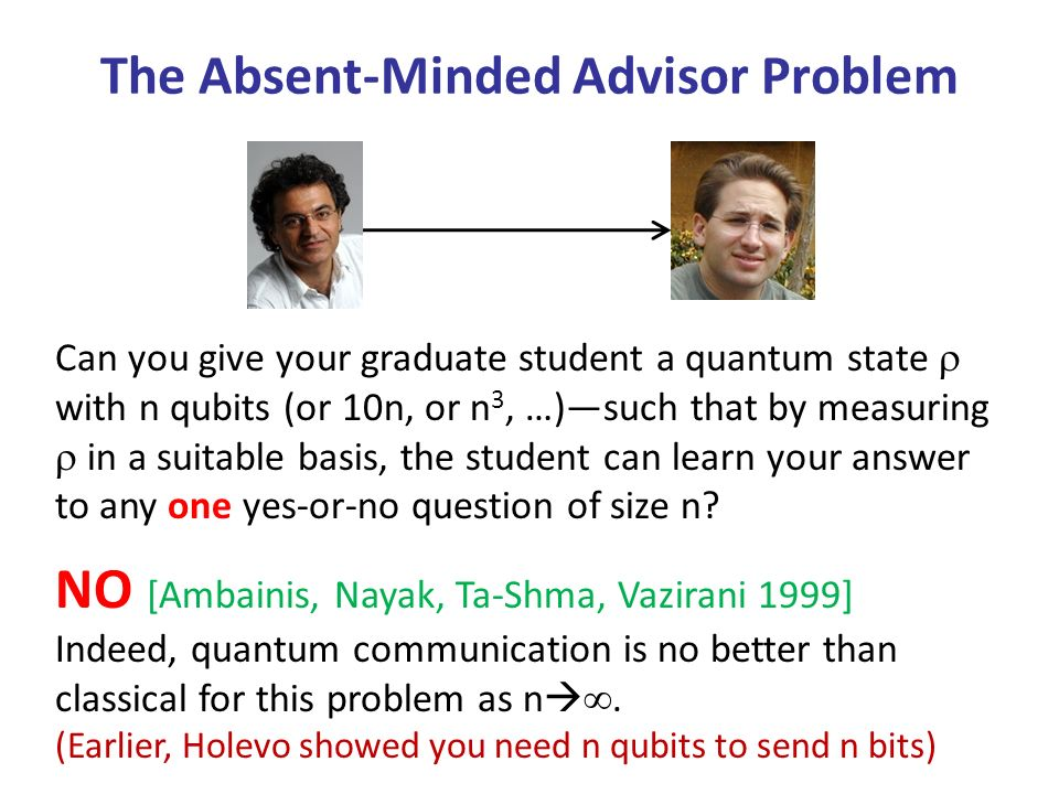 The Absent-Minded Advisor Problem