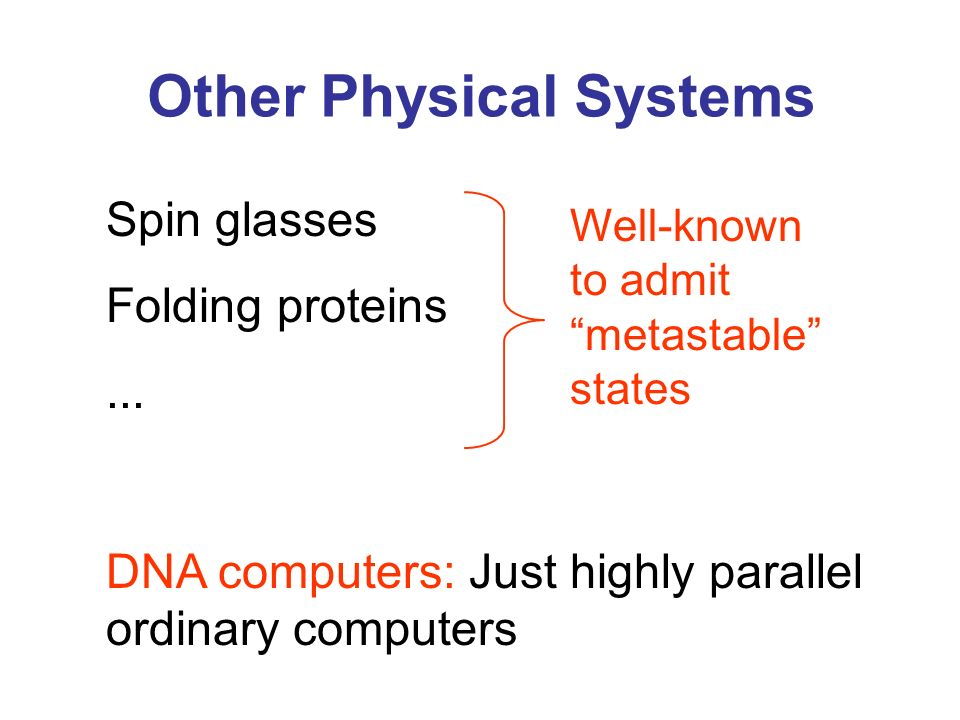 Other Physical Systems