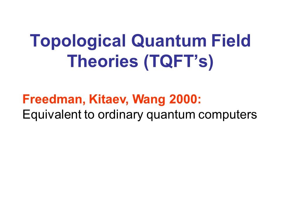 Topological Quantum Field Theories (TQFT's)