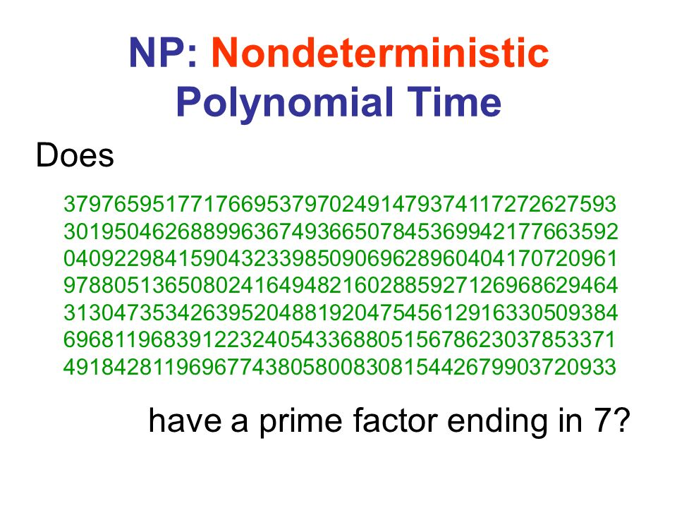 NP: Nondeterministic Polynomial Time