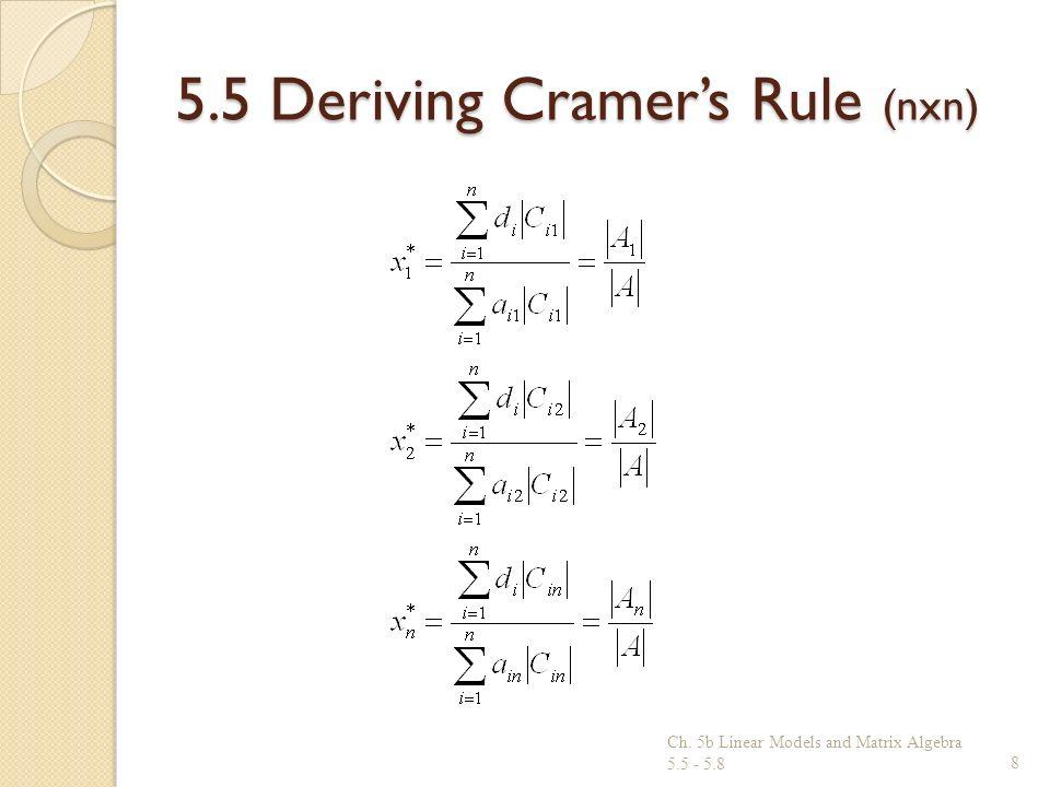 5.5 Deriving Cramer's Rule (nxn)