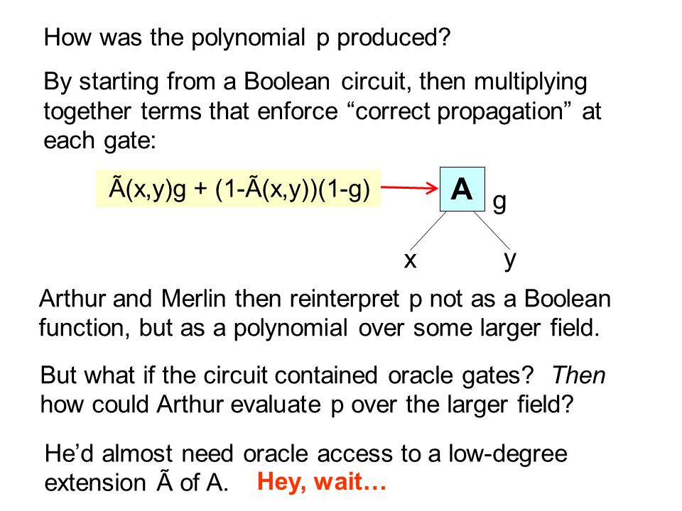  A g x y How was the polynomial p produced