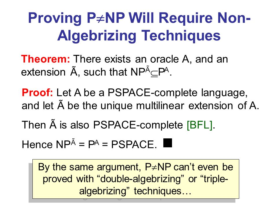 Proving PNP Will Require Non-Algebrizing Techniques