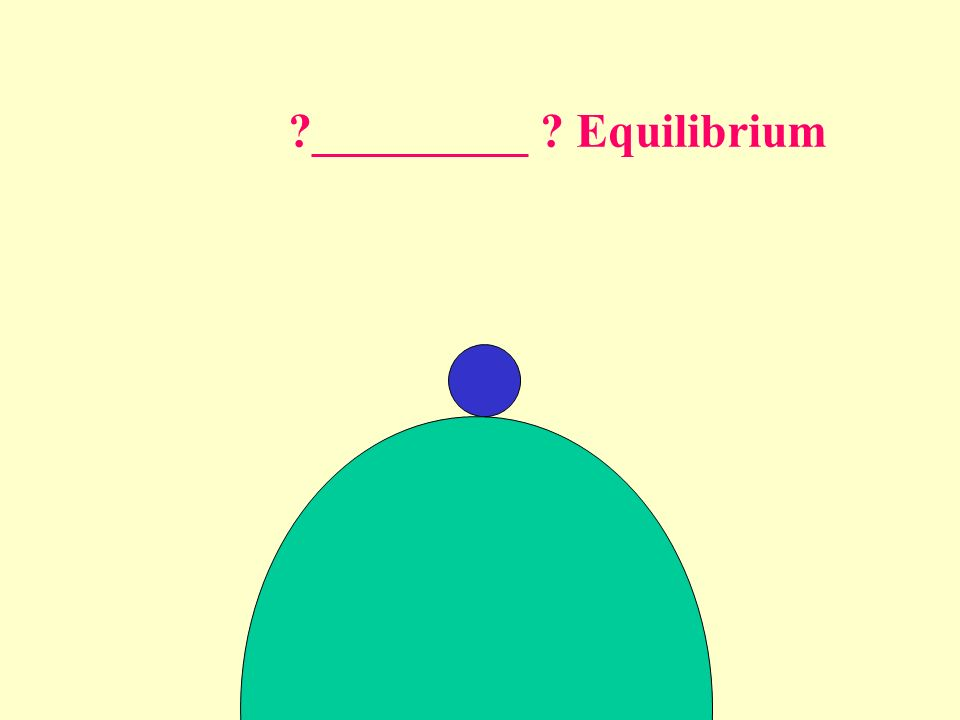 _________ Equilibrium