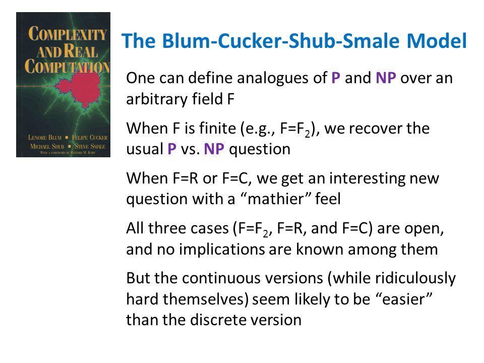 The Blum-Cucker-Shub-Smale Model
