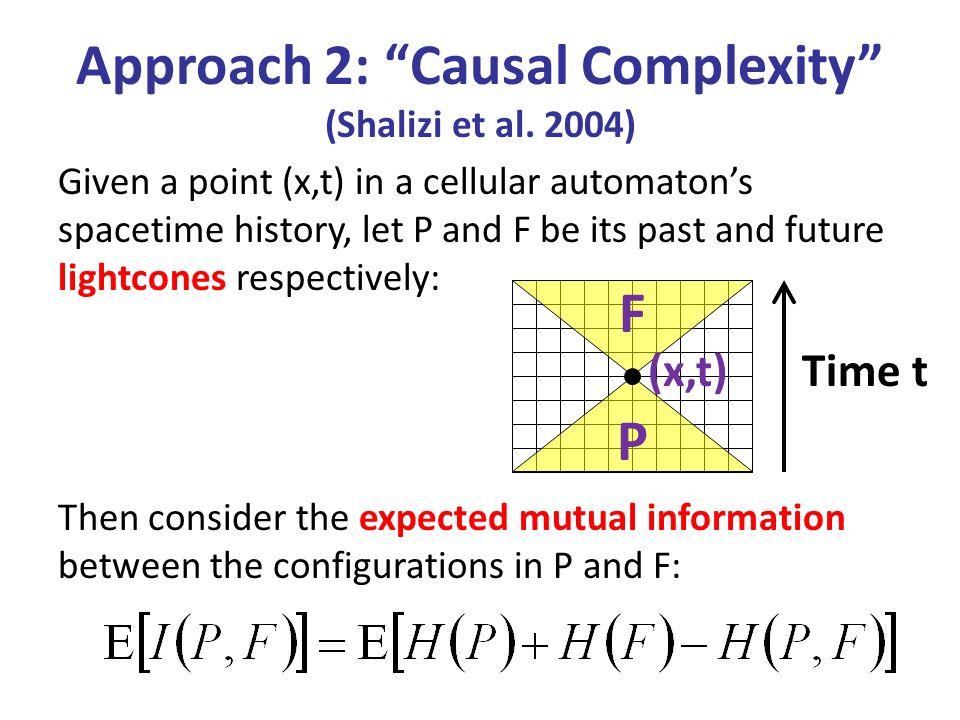 Approach 2: Causal Complexity (Shalizi et al. 2004)