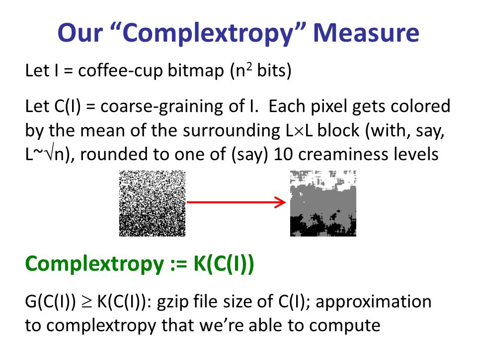 Our Complextropy Measure