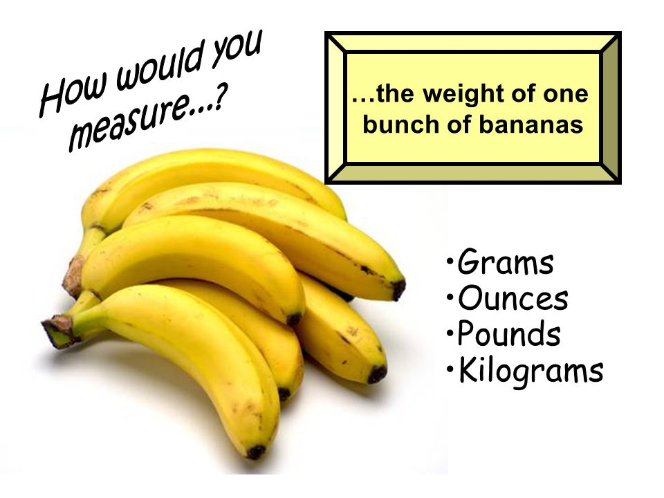 Grams Ounces Pounds Kilograms How would you measure...