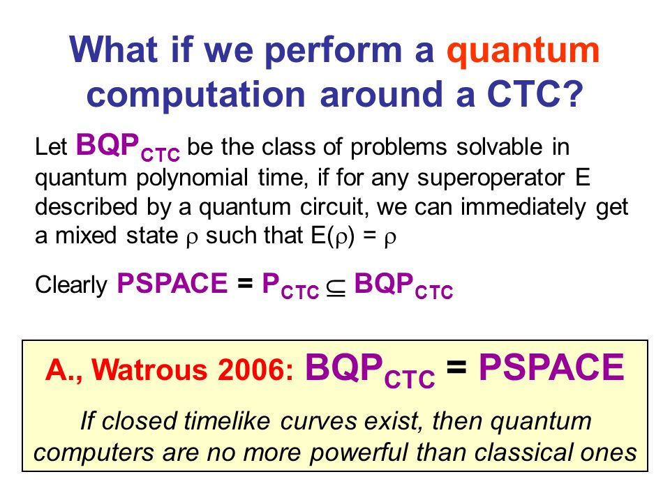 What if we perform a quantum computation around a CTC