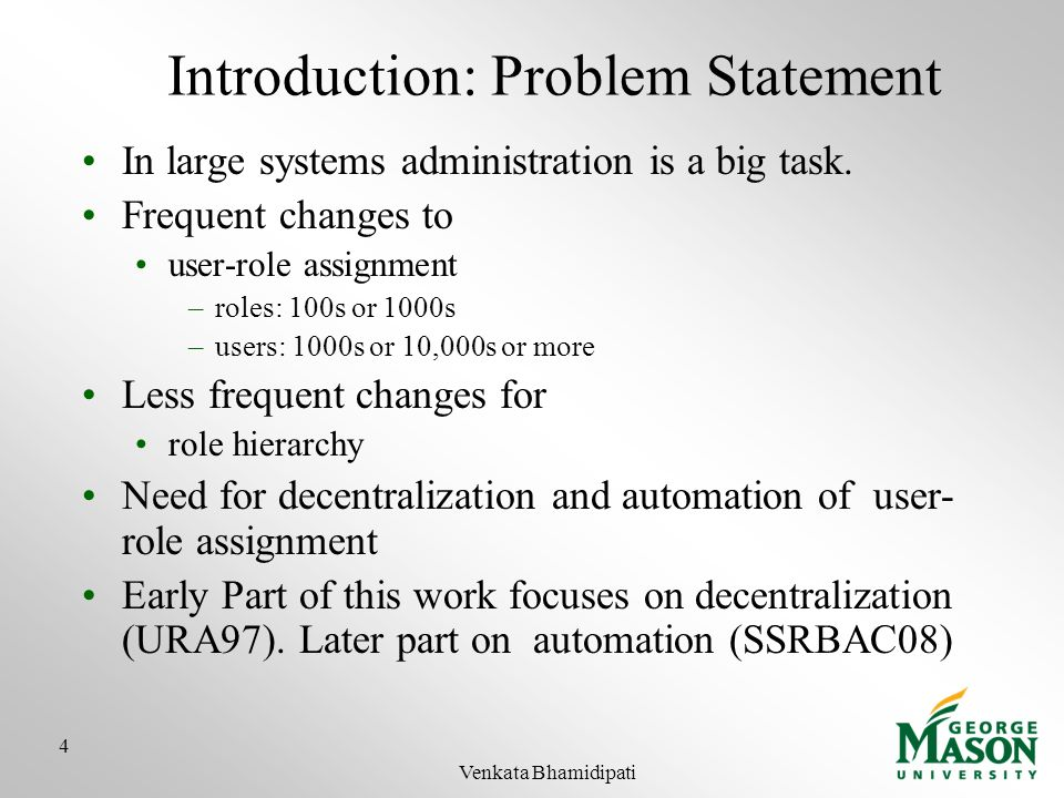 Introduction: Problem Statement