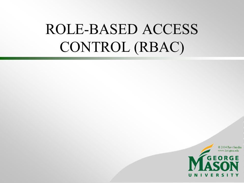 ROLE-BASED ACCESS CONTROL (RBAC)